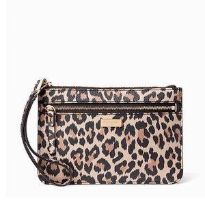 Kate Spade Leopard Wristlet